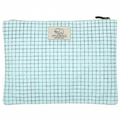 Pochette en coton bio Ema Bristol bleue  par Hindbag