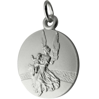 Médaille Ange gardien du chemin 18 mm (argent 925°) Martineau