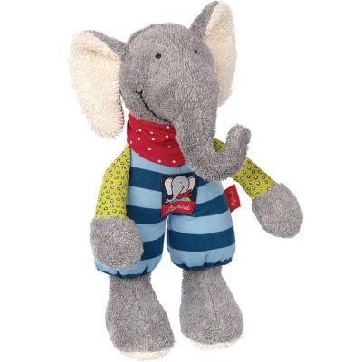 Peluche éléphant dormeur Lolo Lombardo (24 cm) Sigikid