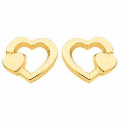 Boucles d'oreilles Coeurs (or jaune 750°)