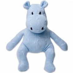 Peluche hippopotame Cable Uni bleu (35 cm)