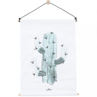 Affiche kakemono en tissu Cactus (42 x 60 cm)  par Jollein