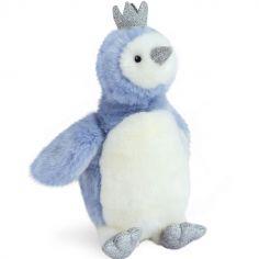 Peluche pingouin Je rêve bleu (30 cm)