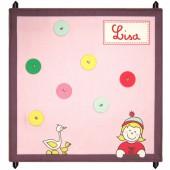 Pêle mêle rose et prune personnalisable (48 x 48 cm) - Les Griottes
