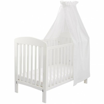 ciel de lit en satin rayures blanc babydan. Black Bedroom Furniture Sets. Home Design Ideas