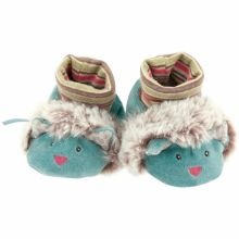 Chaussons peluche chat Les Pachats (0-6 mois)  par Moulin Roty