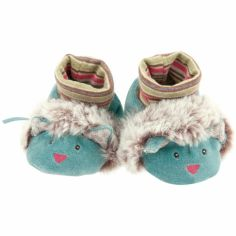 Chaussons peluche chat Les Pachats (0-6 mois)
