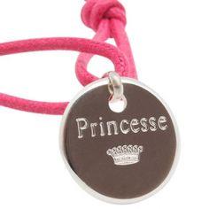 Bracelet cordon enfant Princesse (argent 925°)