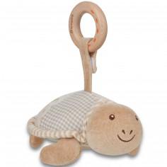 Peluche tortue avec anneau bois