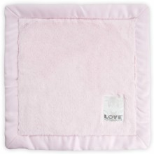 Doudou couverture Love by Little Giraffe Posh satin rose (40 x 40 cm)  par Little giraffe