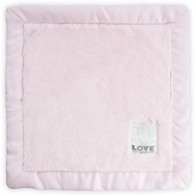 Doudou couverture Love by Little Giraffe Posh satin rose (40 x 40 cm) Little giraffe