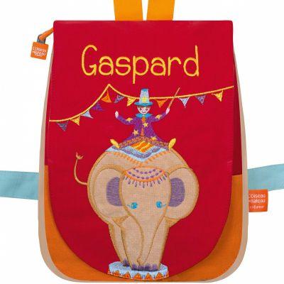 Sac à dos Eléphant circus (personnalisable)  par L'oiseau bateau