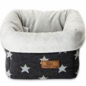 Panier de toilette Star gris anthracite et gris (17 x 20 cm) - Baby's Only