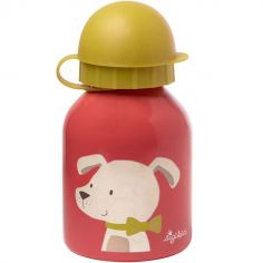 Gourde en inox embout sport chien (250 ml)
