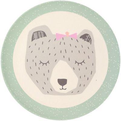 Petite assiette en bambou ours Mama Bear (20,5 cm) Love Maé