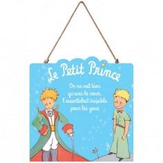 Panneau en bois Le Petit Prince bleu clair