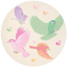 Grande assiette en bambou Oiseaux (25 cm)  par Love Maé