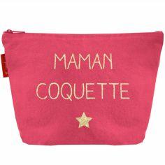 Pochette Fête des mères rose framboise (personnalisable)