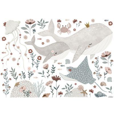 Planche de stickers Under the sea (90 x 64 cm)  par Lilipinso