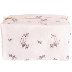 Trousse de toilette faon Vic rose