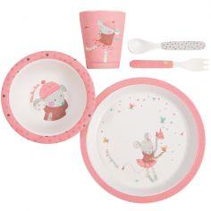 Coffret repas rose Les jolis trop beaux (5 pièces)