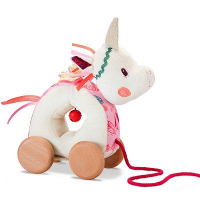 Jouet à tirer Louise la licorne  par Lilliputiens