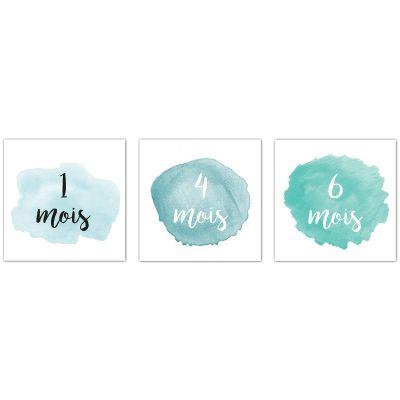 Cartes photos souvenirs Minimois bleues (12 cartes)