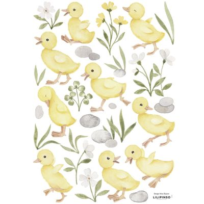 Planche de stickers A3 9 petits cannetons Lilipinso
