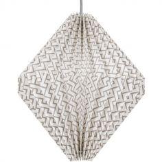 Abat-jour cône Origami gris (diamètre 29,5 cm)