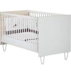 Lit bébé évolutif en lit junior Little Big Bed Happy (70 x 140 cm)