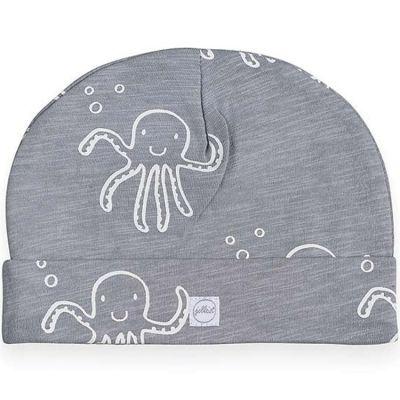 Bonnet en coton Octopus pieuvre gris (6-12 mois)  par Jollein