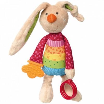 Peluche d'activités lapin Rainbow Rabbit (26 cm) Sigikid