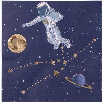 Lot de 16 serviettes en papier Astronaute  par Arty Fêtes Factory