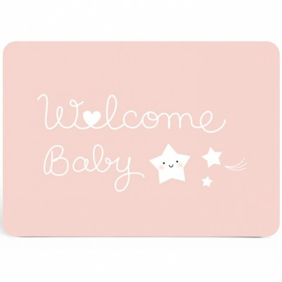 Carte Welcome baby rose  par Zü