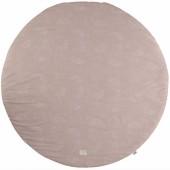 Tapis de jeu rond Full Moon coton bio White bubble Misty pink (105 cm) - Nobodinoz