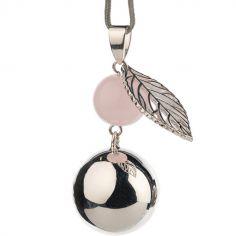 Bola design perle et feuille (plaqué argent)