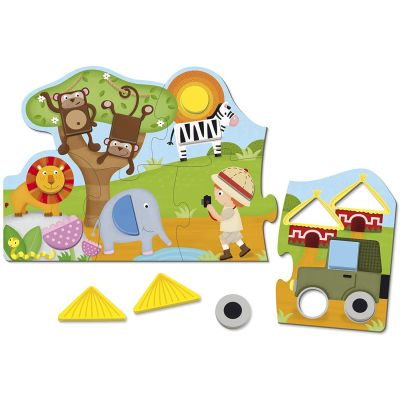 Puzzle Shapes Safari (19 pièces)  par Goula