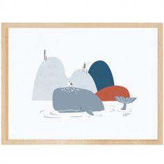 Affiche encadrée la baleine (30 x 40 cm)