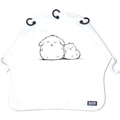 Protection pour poussette Baby Peace coton bio Cuddles blanc Kurtis