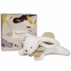Peluche avec coffret lapin beige Happy Wild (25 cm)