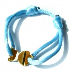 Bracelet cordon nounours 15 mm (or jaune 750°)