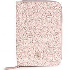 Protège carnet de santé Flower mellow rose