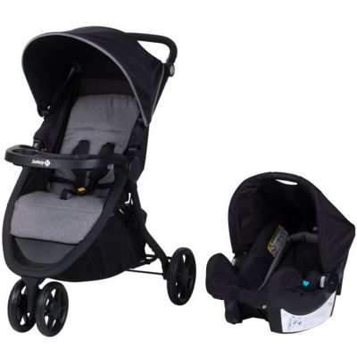 Pack duo poussette + cosy Urban Trek Black Chic  par Safety 1st