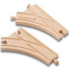 Set de rails en bois - courbes d'aguillages