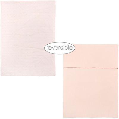 Couverture réversible en coton Pure rose (75 x 100 cm)  par Nattou