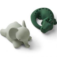 Lot de 2 jouets de bain Vikky Safari green mix