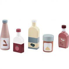 Set de 5 bouteilles en bois Bistro