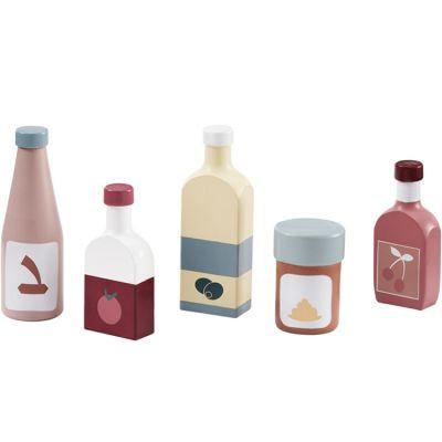 Set de 5 bouteilles en bois Bistro  par Kid's Concept