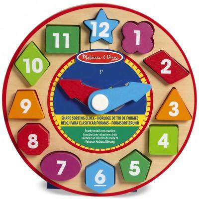 Horloge de tri de formes Melissa & Doug