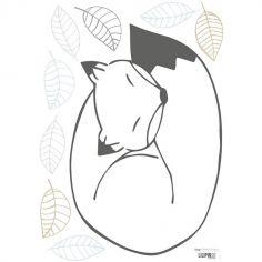 Grand sticker Nordic renard (29,7 x 42 cm)